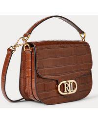 Ralph Lauren Metallic Leather Small Addie Crossbody - Brown