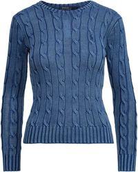 Polo Ralph Lauren - Cable-knit Cotton Jumper - Lyst