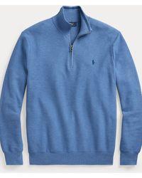 Polo Ralph Lauren Maglia in piqué con cerniera - Blu