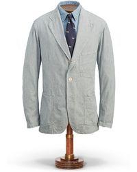 RRL - Striped Cotton Sport Coat - Lyst