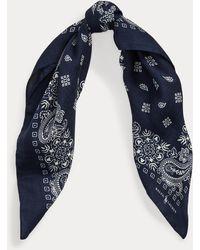 Polo Ralph Lauren Bandana aus Wolle und Seide - Blau