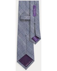 Ralph Lauren Purple Label Corbata De Seda Con Cuadros Glen - Azul