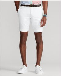 Polo Ralph Lauren Short in chino Stretch Slim-Fit - Bianco