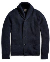 RRL - Cashmere Shawl-collar Cardigan - Lyst