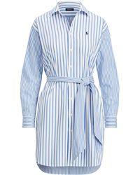 Polo Ralph Lauren - Striped Cotton Shirtdress - Lyst
