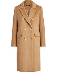 Ralph Lauren Manteau en laine coupe croisée - Neutre