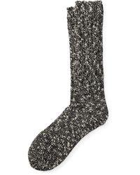Ralph Lauren Cotton-blend Ragg Crew Socks - Black