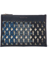 Polo Ralph Lauren - Chain-link Leather Pouch - Lyst