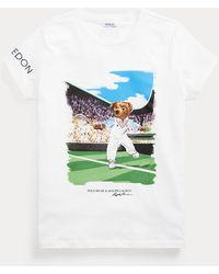 Ralph Lauren Golf Wimbledon Polo Bear Tee - White