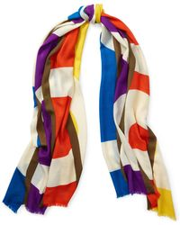 Polo Ralph Lauren - Polo Frayed Wool Scarf - Lyst