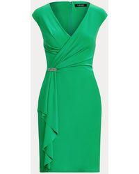 Ralph Lauren Cocktailkleid mit Rüschen - Grün
