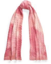 Ralph Lauren Pink Pony Tie-dye Scarf