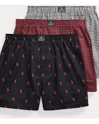 Polo Ralph Lauren Lot de trois caleçons en coton - Multicolore