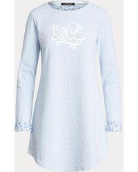 Ralph Lauren Camiseta De Pijama De Mezcla De Algodón - Azul
