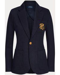 Polo Ralph Lauren Blazer en jacquard maille double - Bleu
