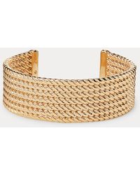 Ralph Lauren Manchette en corde dorée - Métallisé