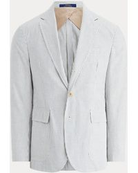 Polo Ralph Lauren Giacca Polo Soft in seersucker - Grigio