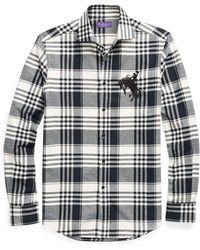 Ralph Lauren Purple Label - Embroidered Plaid Shirt - Lyst