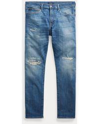 Ralph Lauren Vaquero Elástico Remendado Sullivan Slim - Azul