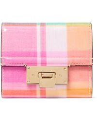 Ralph Lauren Petite Hinge-lock Wallet - Pink