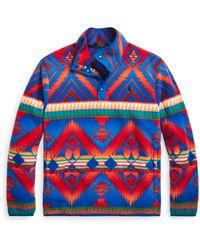 Ralph Lauren Southwestern Fleece Pullover - Blue