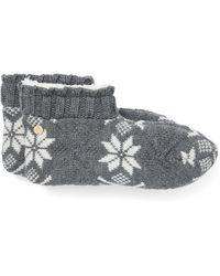 Ralph Lauren Snowflake Fleece Bootie - Gray