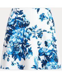Ralph Lauren Golf Floral Flounced Golf Skort - Blue