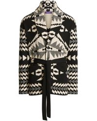 Ralph Lauren Purple Label Ralph Lauren Belted Wool-cashmere Cardigan - Black