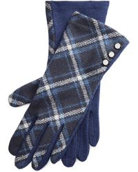 Ralph Lauren Buttoned Wool-blend Gloves - Blue