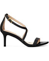 Ralph Lauren Leaton Leather Sandal - Black