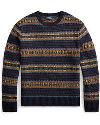 Polo Ralph Lauren Wollpullover mit Fair-Isle-Muster - Blau