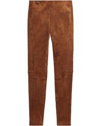 Ralph Lauren Pantalon skinny en daim - Marron