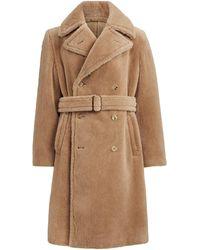 Ralph Lauren Alpaca-blend Topcoat - Natural