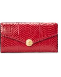 Ralph Lauren Logo-snap Ayers Wallet - Red