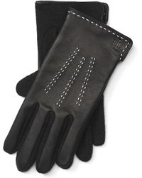 Pink Pony - Leather-wool Gloves - Lyst