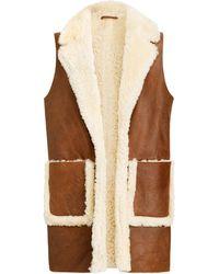 Polo Ralph Lauren Reversible Shearling Vest - Multicolor