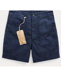 RRL Herringbone Field Shorts - Blue