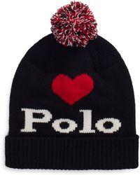 Bonnet Polo à pompon Noir