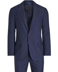 Polo Ralph Lauren Polo Wool Twill Suit - Blue