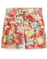 RRL Hawaiian Cotton-blend Short - Red