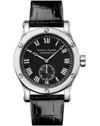 Ralph Lauren 39 Mm Chronometer Steel - Black