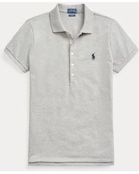 Polo Ralph Lauren Slim Fit Stretch Polo Shirt - Grey