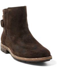 Polo Ralph Lauren Myles Distressed Suede Boot - Brown