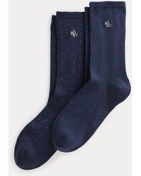 Ralph Lauren Due paia di calze lunghe stretch - Blu