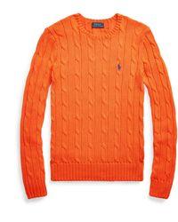 Ralph Lauren Cable-knit Cotton Sweater - Orange