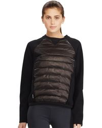 Pink Pony - Leather-front Down Sweatshirt - Lyst