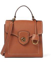 d961352357 Ralph Lauren - Leather Crossbody Satchel Bag - Lyst