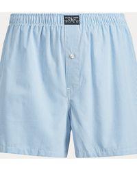 Polo Ralph Lauren Caleçon tissé à carreaux-fenêtre - Bleu