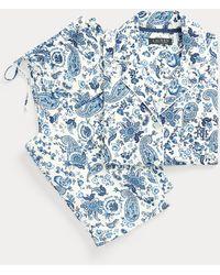 Ralph Lauren Pijama Capri De Mezcla De Algodón - Azul