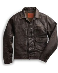 RRL - Leather Jacket - Lyst